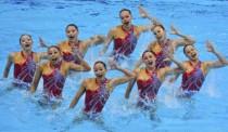 花样游泳集体项目赛况