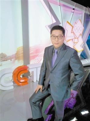 刘建宏在央视伦敦演播室里。