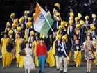 视频-开幕式运动员入场印度代表队惊现神秘女人