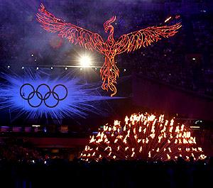 2012伦敦奥运会闭幕 圣火熄灭