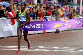 女子马拉松埃塞俄比亚破奥运纪录夺冠朱晓琳第6