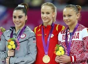体操-女子跳马罗马尼亚名将夺冠丘索维金娜第5