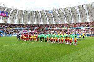 韩国VS阿尔及利亚开赛仪式