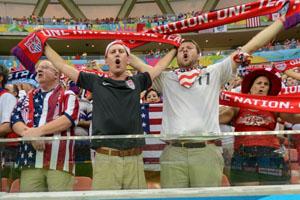 美国VS葡萄牙现场球迷