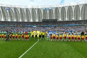 尼日利亚VS阿根廷赛前仪式