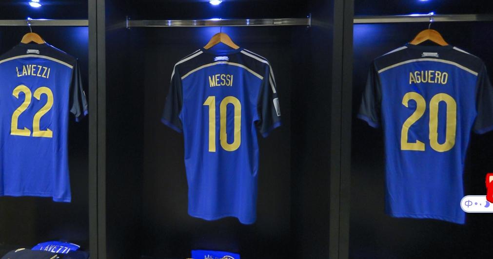 决赛前阿根廷更衣室