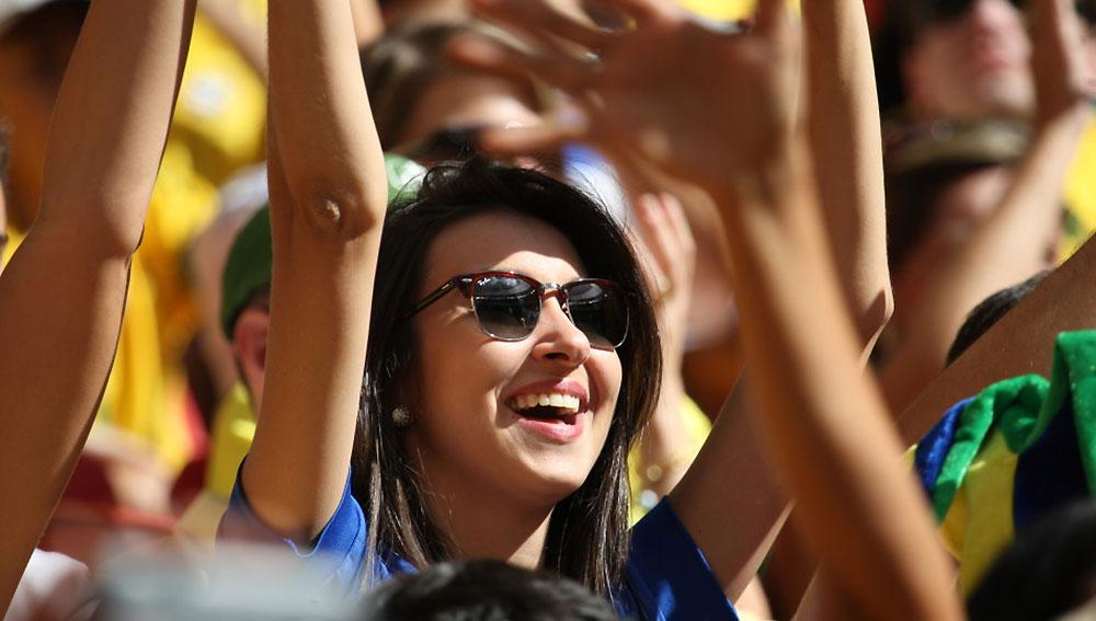 巴西赛场内外美女