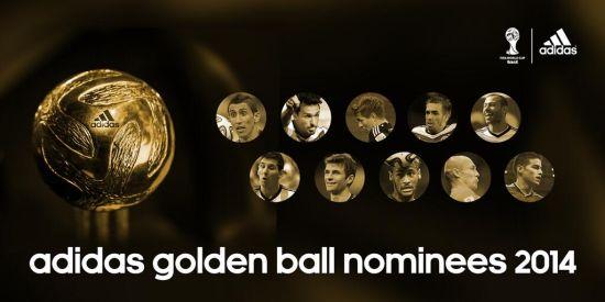 世界杯金球奖10人候选名单