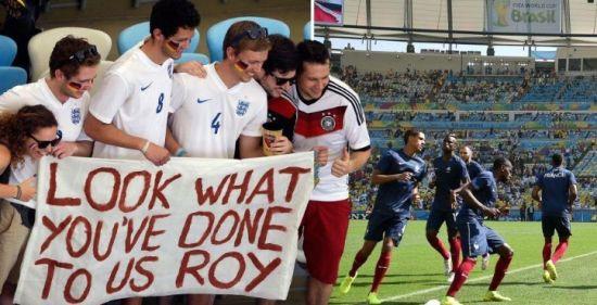 英格兰球迷临阵倒戈支持德国队