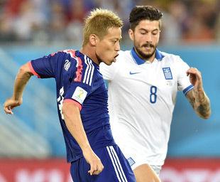 世界杯-J联赛金靴失空门日本0-0十人希腊两场1分