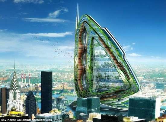 纽约有望建蝴蝶状摩天大楼应对人口爆炸(图)