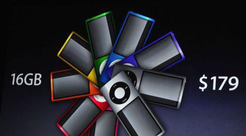 图为:苹果发布新款iPod Nano