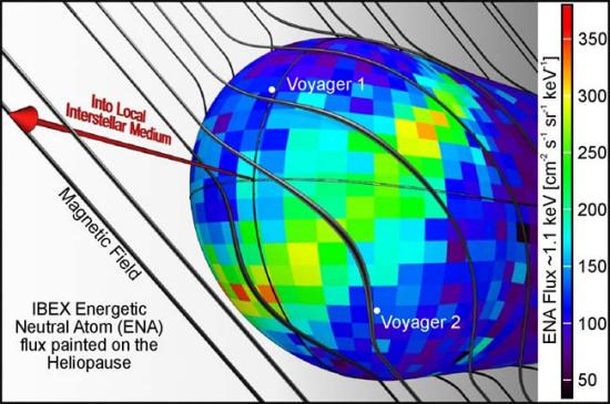 星际边界探测飞船(IBEX)于近期首次绘制出高清晰度的全天候空间地图