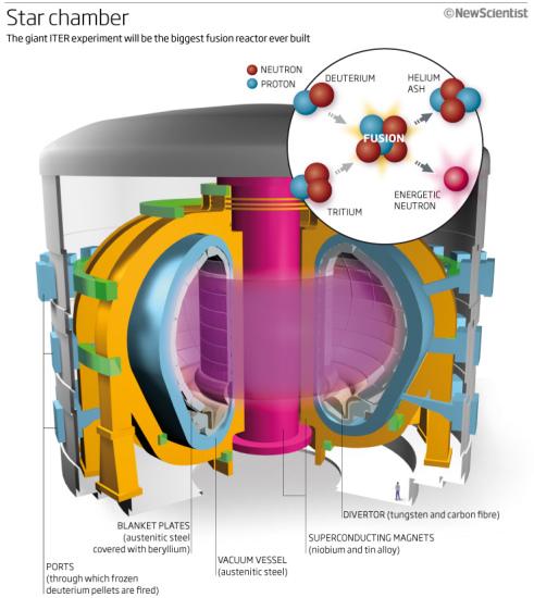 国际热核聚变实验反应堆示意图