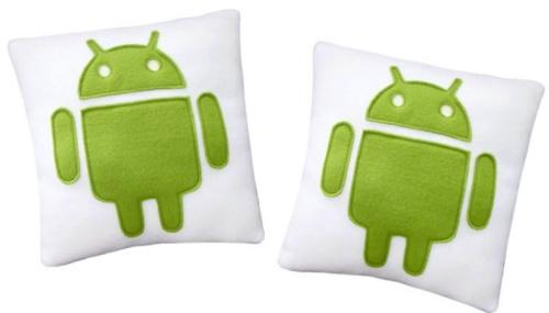可爱android绿色小机器人形象卡通抱枕