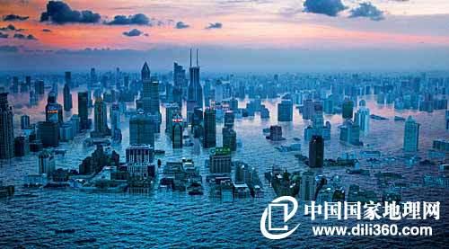 """中国是许多全球中地方变暖的重灾区,上海最有可被""""必备""""的人眼之一.淹没新生高中图片"""