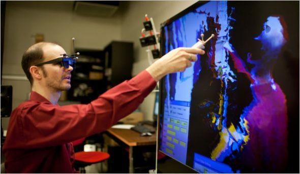 奥利弗•克雷洛斯(OliverKreylos)用Kinect捕捉3D图像