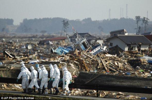 现在警员已经能在福岛核电站附近寻找遇难者遗体