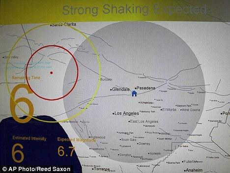 美国的预警系统在模拟1994年6.7级诺思里奇地震时接受测试