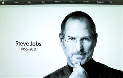 美國媒體10月5日報道說,蘋果公司前首席執行官喬布斯已經去世。這是當天蘋果公司官網首頁的悼念圖片。