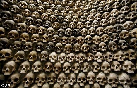 古玛雅人头骨。根据古玛雅人的预言,2012年将是世界末日
