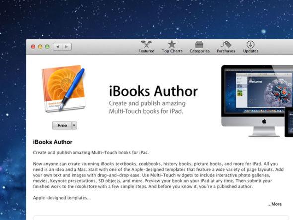 用户可以用过iBooks Author在Mac上制作电子书