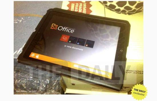 传微软将在数周内发布iPad版Office