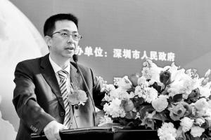 腾讯高级执行副总裁吴宵光发表演讲。  深圳商报记者   李博 摄