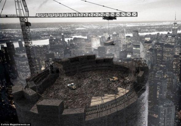 城堡摩天大楼(Citadel Skyscraper)项目是为日本设计的,因为近几年有大量自然和人为灾害袭击这一地区
