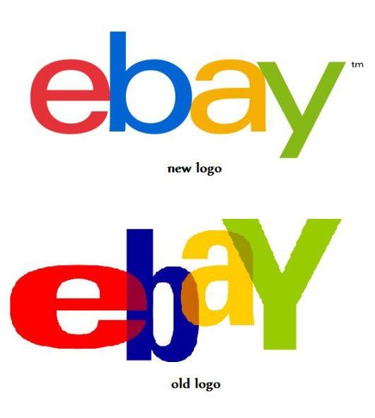 ebay新旧Logo对比