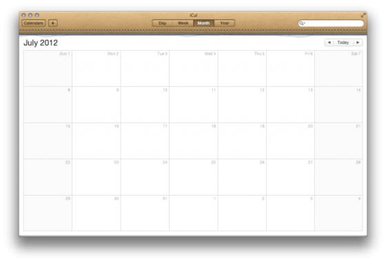 iPad日历:iOS中的拟物化风格界面