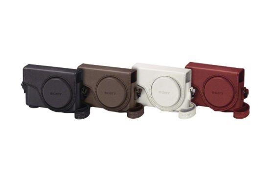 白、红、黑、棕四种颜色的DSC-WX300时尚相机套LCJ-WD