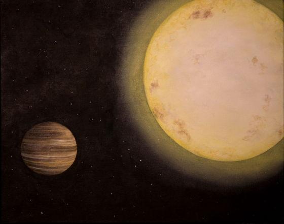 示意图:KELT-6b,一颗于2013年6月份刚刚被宣布发现的系外行星,其大小与土星相仿