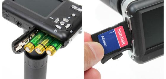 LO2采用一般四号电池与SD记忆卡.-APOLLO2口袋随身相机登场