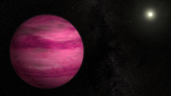 这是一张艺术示意图,展示新发现的系外行星GJ 504b,其质量约为木星的4倍,从而使其成为迄今使用直接成像技术在一颗类太阳恒星周围发现的质量最小的系外行星