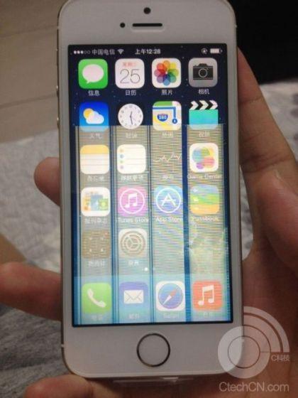 金色iPhone5S出现花屏问题