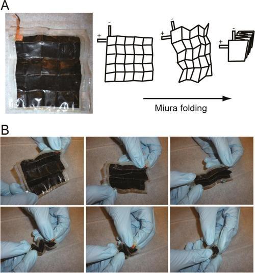 纸基锂离子电池折叠后单位能量密度增加14倍