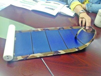 太阳能充电宝。徐兢 摄