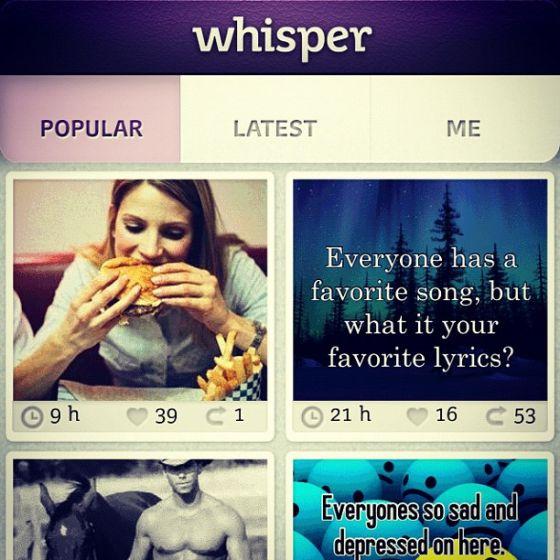 匿名分享应用Whisper