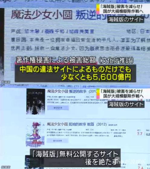 日本电视台报道中国的盗版动画