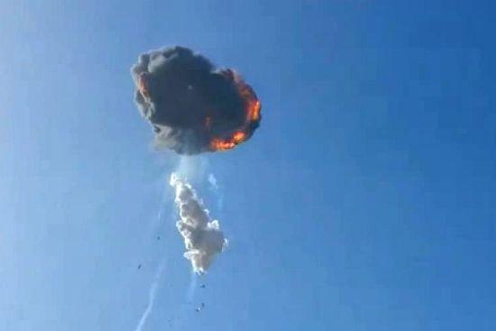 火箭空中爆炸(视频截图)