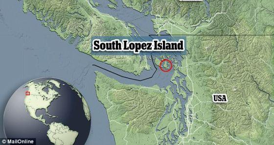 科学家在华盛顿州洛佩斯岛(照片显示)的岩石露头中获得这一重大发现。1亿年前,这些岩石位于地下12英里处,后来渐渐上升到地面以上。生命可能在这些位于两个板块间的岩石中活下来。