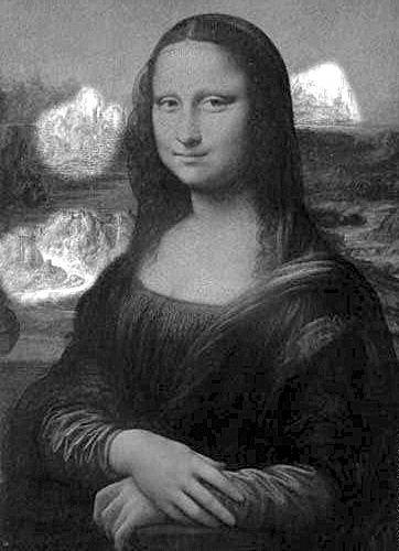 《蒙娜丽莎》画中暗藏动物头像