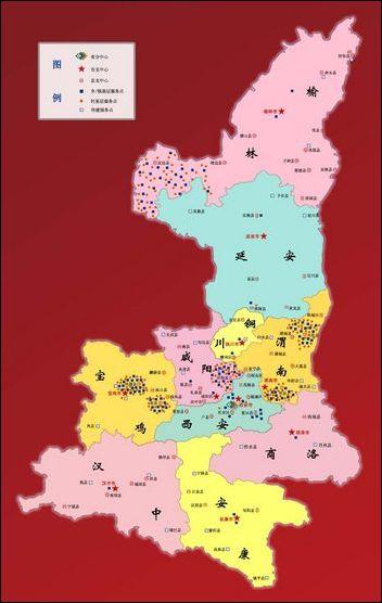 陕西省景点地图全图