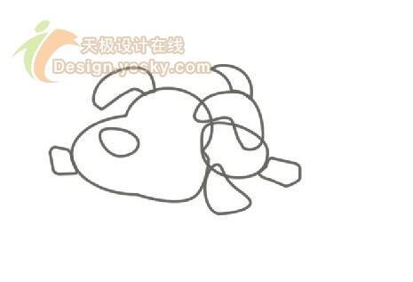 卡通狗狗简笔画-Fireworks实例 绘制可爱卡通狗狗桌面