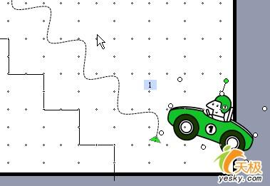 PowerPoint制作小汽车按路径爬楼梯动画(3)