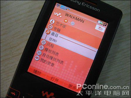 4GB海量存储索爱智能音乐W958c仅2008