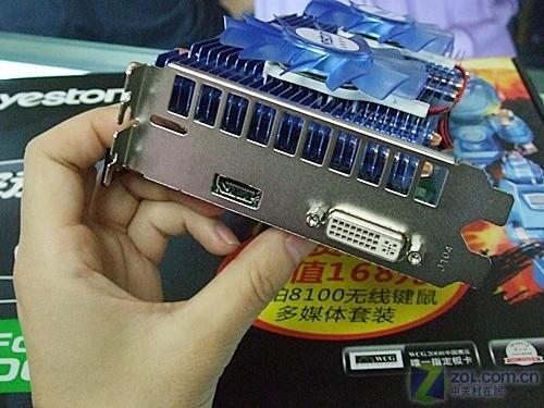 输出接口   输出部分,盈通 GTS250游戏高手极速版提供了DVI+HDMI接口组合,支持各种类型的双头输出模式,可以实现高达2560x1600的高分辨率输出。该显卡采用了HDMI输出接口,方便用户组建高清视频系统。   编辑点评:盈通 GTS250游戏高手极速版不仅使用了热管散热器和全固态供电模块,该显卡还采用了HDMI输出接口和1GB容量的显存,在功能性方面表现全面。目前该显卡以999元的价格到货,适合喜欢玩游戏的用户选择。   盈通 GTS250游戏高手极速版 [参考价格] 999元 [联系地址