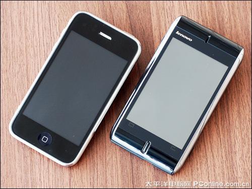 全触控设计联想O1与3G版iPhone对比