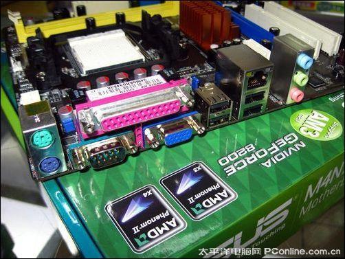 背板接口方面,华硕 m4n78-am v2 主板提供ps/2键鼠接口,1个串口,1